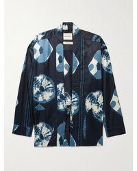 Nicholas Daley Printed Satin Jacket - Blue