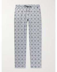 Hanro Night & Day Printed Cotton Pyjama Trousers - Grey