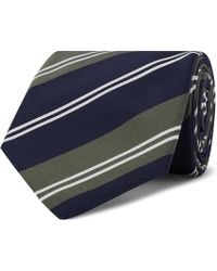Kingsman - + Drake's 8cm Striped Silk And Cotton-blend Twill Tie - Lyst