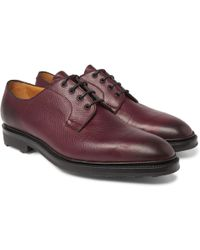 Edward Green - Caudale Textured-leather Derby Shoes - Lyst