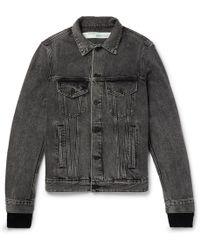 3b6a5875f0f7 Lyst - Off-White c o Virgil Abloh Slim-fit Printed Denim Jacket in ...
