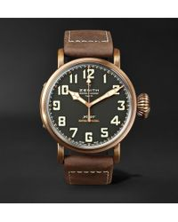 Zenith - Pilot Type 20 Extra Special 45mm Bronze And Nubuck Watch - Lyst