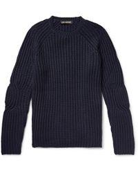 Neil Barrett - Ribbed Wool-blend Sweater - Lyst