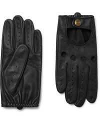 Dents Silverstone Touchscreen Leather Driving Gloves - Black