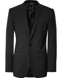 Dolce & Gabbana - Black Slim-fit Stretch-virgin Wool Suit - Lyst