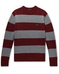 Acne Studios Logo-appliquéd Striped Wool Sweater - Multicolour