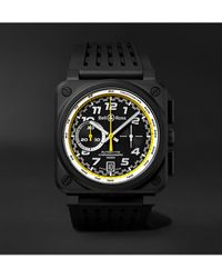 Bell & Ross Br 03-94 R.s.20 Limited Edition Automatic Chronograph 42mm Ceramic And Rubber Watch - Yellow