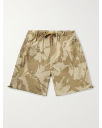 Moncler Camouflage-print Cotton-ripstop Drawstring Bermuda Shorts - Natural