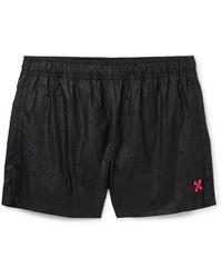 Off-White c/o Virgil Abloh - Logo-appliquéd Swim Shorts - Lyst