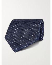 Tom Ford 8cm Pin-dot Textured-silk Tie - Blue