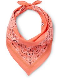 Loewe - Embroidered Printed Cotton Bandana - Lyst