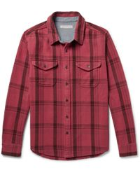 Outerknown Checked Organic Cotton-twill Shirt - Red