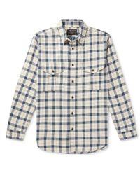 Filson Alaskan Guide Checked Cotton-flannel Shirt - Blue