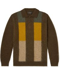 Beams Plus Colour-block Jacquard-knit Polo Shirt - Multicolor