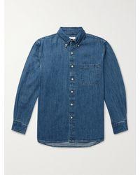 Adsum Button-down Collar Denim Shirt - Blue