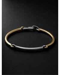MAOR The Solstice 18-karat White And Yellow Gold Bracelet - Metallic