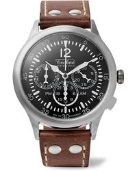 Techné - Merlin 296 Stainless Steel And Leather Watch - Lyst