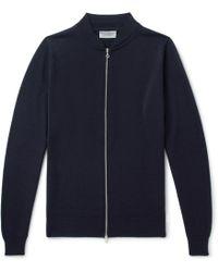 John Smedley - Maclean Slim-fit Wool Bomber Jacket - Lyst
