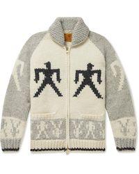 Carhartt WIP Intarsia Wool Zip-up Cardigan - Gray