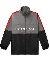 Balenciaga Logo Windbreaker Jacket - Gray