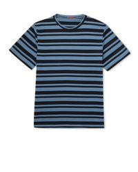 Barena Striped Cotton-jersey T-shirt - Blue