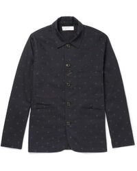 Universal Works - Embroidered Cotton-twill Overshirt - Lyst