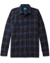 Beams Plus - Checked Cotton-flannel Shirt - Lyst