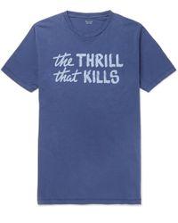 Hartford - Printed Cotton-jersey T-shirt - Lyst