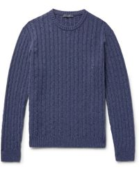 Thom Sweeney - Cable-knit Cashmere Sweater - Lyst