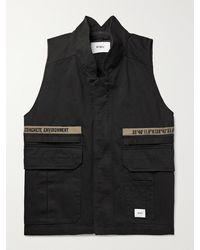 WTAPS Embroidered Cotton-twill Gilet - Black