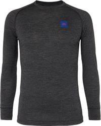 Soar Running Merino Wool And Silk-blend Base-layer T-shirt - Grey