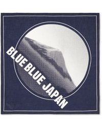Blue Blue Japan Printed Cotton Bandana - Blue
