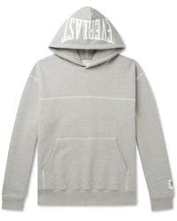 Reigning Champ Everlast Logo-print Loopback Cotton-blend Jersey Hoodie - Gray