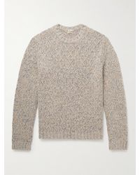 Massimo Alba Denzel Cable-knit Wool-blend Sweater - Grey