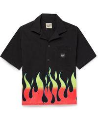 GALLERY DEPT. Parker Camp-collar Logo-appliquéd Printed Cotton-twill Shirt - Black