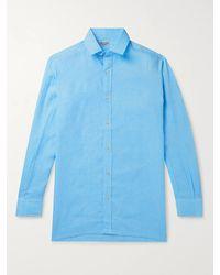 Charvet Linen Shirt - Blue