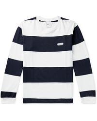 Adsum Long Sleeve Big Stripe Tee - Blue