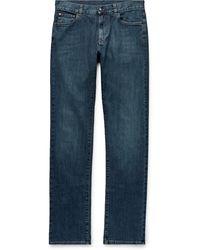 Canali Slim-fit Stretch-denim Jeans - Blue