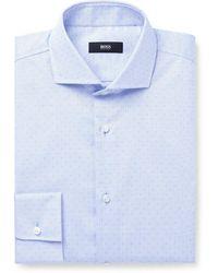 BOSS by Hugo Boss - Jason Slim-fit Cotton-dobby Shirt - Lyst