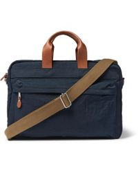 J.Crew   Harwick Leather-trimmed Canvas Briefcase   Lyst