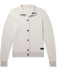 Sease Reversible Cashmere And Cotton-blend Cardigan - Grey