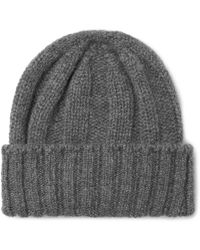 bfa235e00ae Theory Ribbed Cashmere Beanie in Gray for Men - Lyst