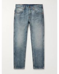 Gucci Slim-fit Cropped Tapered Denim Jeans - Blue