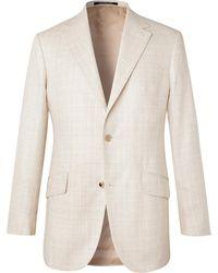 Richard James Prince Of Wales Checked Mélange Silk Blazer - Multicolor