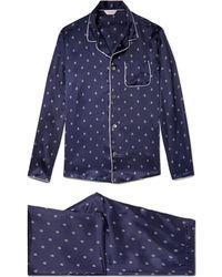 Derek Rose - Brindisi 19 Printed Silk Pyjama Set - Lyst