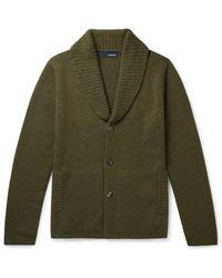 Lardini Shawl-collar Alpaca-blend Cardigan - Green