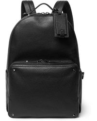 Valentino   Rockstud Pebble-grain Leather Backpack   Lyst