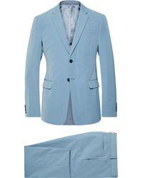 8ed732af3bc7 Tech-smart Trim Fit Solid Stretch Wool Travel Suit. $240. Nordstrom Rack.  Prada - Light-blue Slim-fit Tech-twill Suit - Lyst