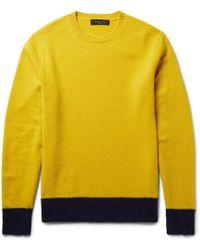 Rag & Bone - Two-tone Shetland Wool-blend Jumper - Lyst