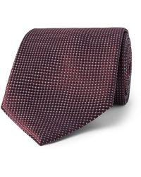 Ermenegildo Zegna 8cm Textured-silk Tie - Purple
